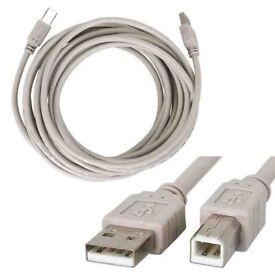 Quality brand-new long shielded USB 2.0 high speed printer cable,costs £16.95,quick sale at only £5