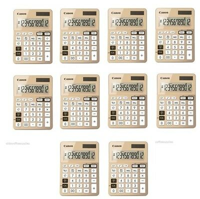 10 x Canon LS-123K Dual power desktop calculator with Tax function 12 Digit