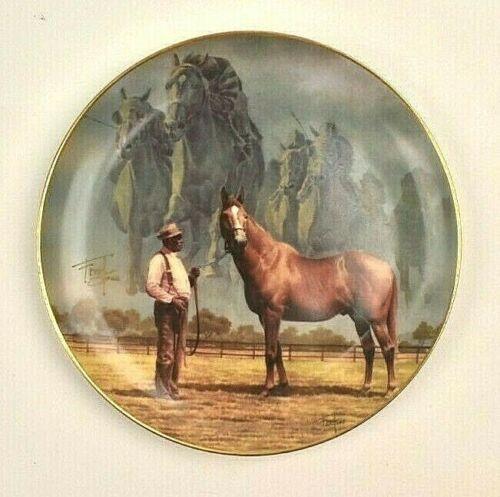 "Fred Stone Plate MAN O WAR THE FINAL THUNDER LTD ED Gold Rim COA Large 10"" Vtg"