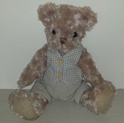 "Job Lot - 12  10"" Vanity Fair Dressed Sitting Teddy Bears"