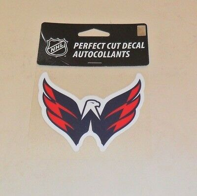 WASHINGTON CAPITALS 4 X 4 DIE-CUT DECAL OFFICIALLY LICENSED PRODUCT Washington Capitals Merchandise