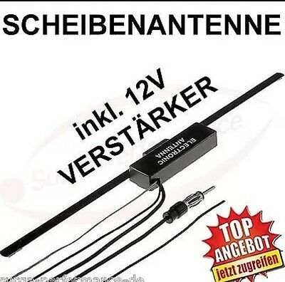 Scheibenantenne + 12V Verstärker Auto Boot LKW Klebeantenne Radio Antenne FM AM