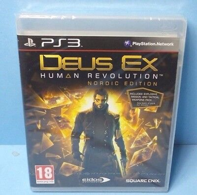Deus EX Human Revolution Nordic Edition PLAYSTATION 3 BRAND NEW FACTORY SEALED for sale  Shipping to Nigeria