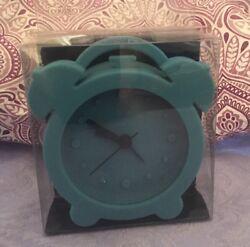 Teal Rubber Silicone Alarm Clock Cool Unique Retro Look Novelty