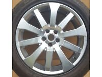 """Land Rover original equipment 19"""" alloy wheel that is part number LR002804"""