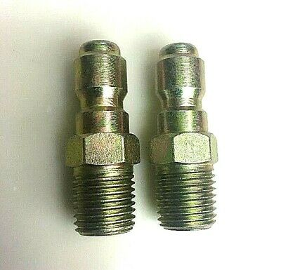 2 Legacy 8.707-139.0 Pressure Washer Hose Quick Coupler Plugs 14 Mpt