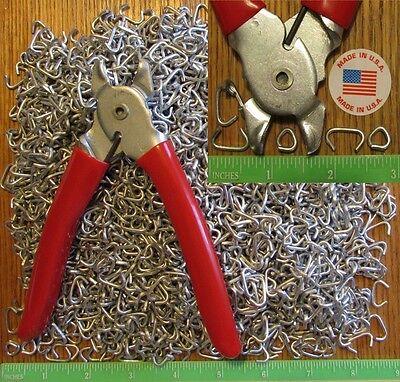 """Hog Rings Ringer Pliers & 2500pcs 1/2"""" Galv Netting Fence..."""