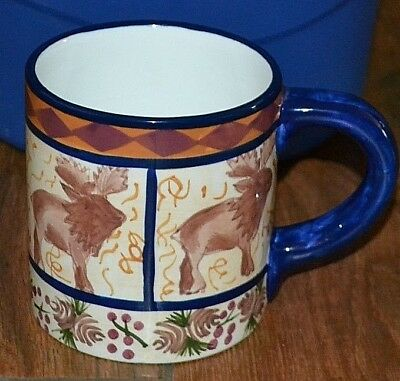 CARIBOU COFFEE Brobdingnagian Mug 30oz Handpainted In China Exclusive Caribous Uncommon