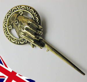 Game of Thrones Brooch Pin - Hand of the King Badge Replica - Gift UK