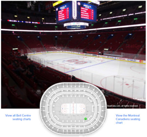 Plusieurs paire de billets pour les Canadiens de Montréal