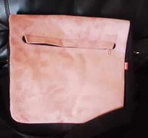 Pink/Dusty Rose Micro Suede Messenger / Lap Top Bag