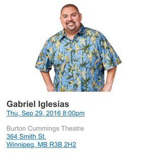 2 Gabriel Iglesias tickets FOR SALE