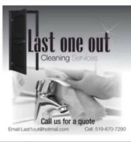 Last one out - Specialized in move in & move out cleanings