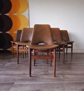 Set of 6 Vintage Retro Parker Eames Era Teak Dining Chairs Hurlstone Park Canterbury Area Preview