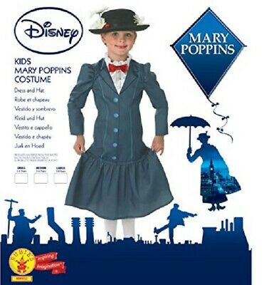 Costume Carnevale Bambina Mary Poppins Disney Rubie's Art.888832