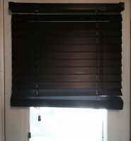 """2 Expresso 2"""" faux wood blinds high quality expresso"""