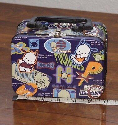 Sanrio   Pochacco    Cool K-9   snap  Mini    Lunch Box   Metal    Japan