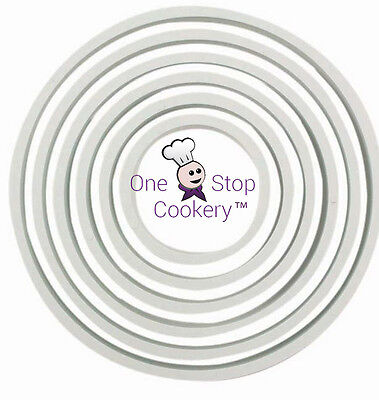 PME 6  ROUND Circle Cutter Set For Fondant Sugarcraft  Biscuits Cookies