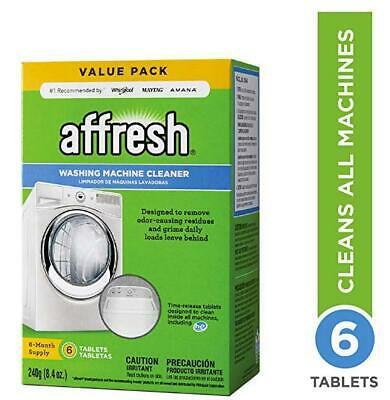 6 Tablets Affresh Washing Machine Cleaner, ---Fast Shipping
