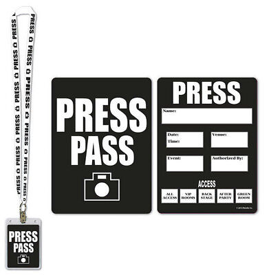 Card And Party (Press Party Pass Lanyard with Card and Card Holder Costume)
