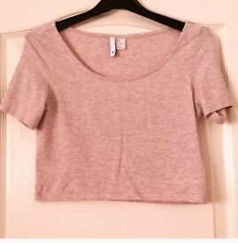 NEW Pink Crop Top, size small