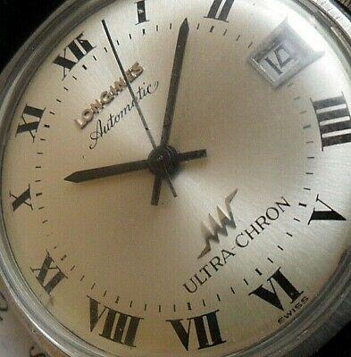 S/S All Original Vintage 1960s Men's Longines Ultra-Chron Automatic Swiss Watch