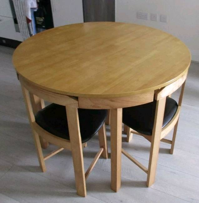 Soulid Oak Round E Saver Table 4 Chairs Free Delivery 063 In Leicester Leicestershire Gumtree