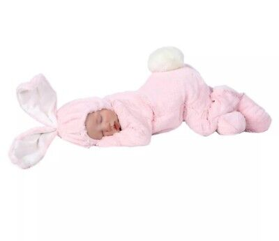 ANNE Geddes BABY GIRL Bunny OUTFIT 0-3 MONTHS RARE Plush Pink Halloween Costume