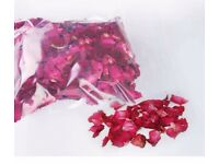 Naturally dried red rose petals