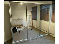 💯🔥 BRAND NEW 2 AND 3 DOORS SLIDING WARDROBE WITH FULL MIRRORS AND GLOSS STRIP, LED OPTIONS 💖