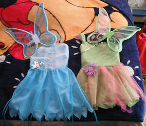 Tinker Bell & Periwinkle Fairy Costumes with Wings!