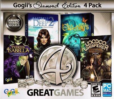 Computer Games - 4 Great Games Diamond Edition PC Games Windows 10 8 7 XP Computer hidden object
