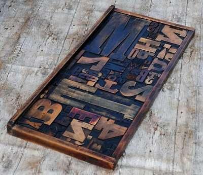 Collage Holzbuchstaben Unikat Setzkasten Holzlettern Letternbild Wandbild Druck.
