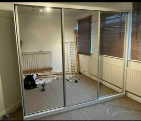💥💯2020 BRAND NEW 2/3 DOORS SLIDING WARDROBE WITH FULL MIRRORS ALL SHELVES & RAILS INCLUDED