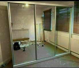 💥💯BRAND NEW 2 AND 3 DOORS SLIDING WARDROBES WITH FULL MIRRORS, SHELVES, RAILS LED LIGHTS