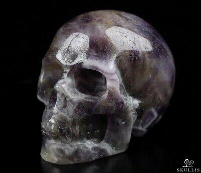 "2.0"" DREAM CHEVRON AMETHYST  Carved Crystal Skull, Realistic, Crystal Healing"