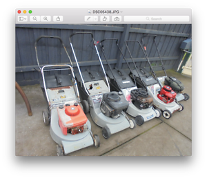 Masport Petrol Lawn Mowers x 5 - Suit parts / fix , SOLD AS IS Dandenong Greater Dandenong Preview