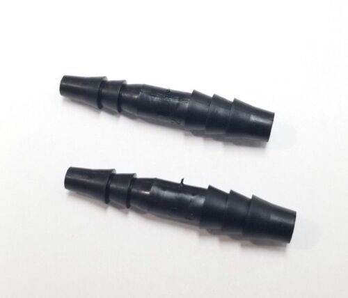 "(2) Two 1/4"" x 3/16"" Hose ID Black HDPE Barbed Plastic Reducer Connector Fitting"