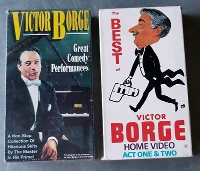 Best of Victor Borge act 1&2 great comedy performance - 2 VHS