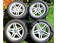 4 x NEW Genuine BMW Alloy Wheels & Premium RunFlat Dunlop Tyres inc TPMS - Bargain