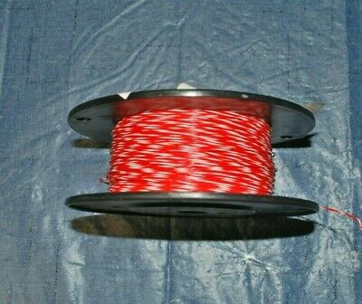 22 Awg Thin Wall Mil-spec Wire Redwht Ptfe Stranded Silver Plated 30ft