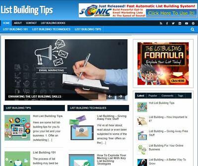 List Building Blog - Established Profitable Turnkey Wordpress Website For Sale