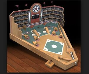 BRAND NEW Front Porch Tabletop  Wooden Pin-ball Baseball Game