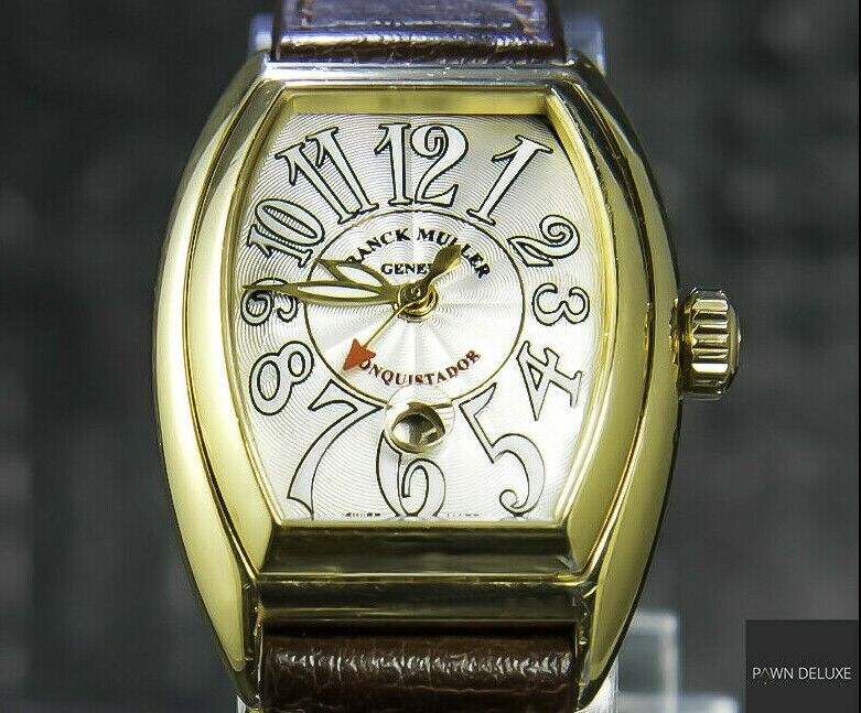 Franck Muller Conquistador Limited Edition Automatic 39×28 mm 18 K Yellow Gold - watch picture 1