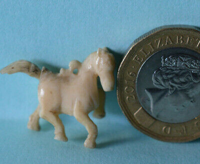 Antique Miniature Carved HORSE CHARM Figure Highly Detailed