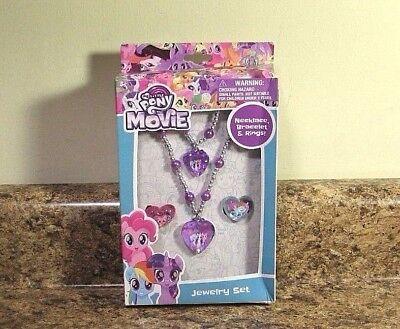 My Little Pony Jewelry (My Little Pony The Movie Jewelry Set Rings Bracelet Necklace Dress Up)