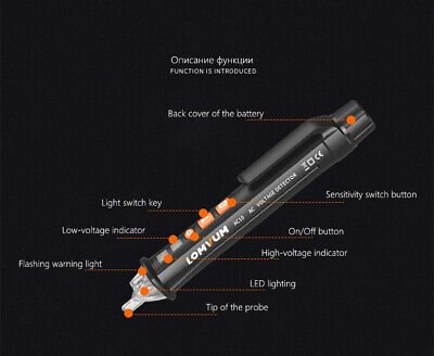 Acdc Voltage Test Pencil 12v48v-1000v Voltage Sensitivity Electric Compact Pen