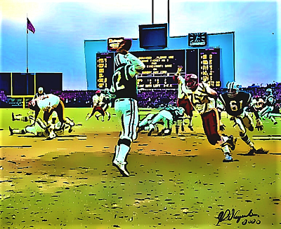 New York Jets Joe Namath throwback lithograph @ Shea Stadium