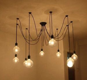 10-Lights-remote-control-Edisons-Chandelier-Light-Pendant-Lamp-exclude-bulbs