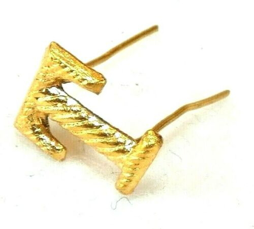 """Original Civil War Faux-Embroidered Letter """"T"""" Insignia-NOS"""
